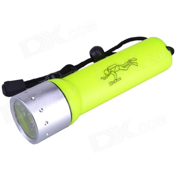 SingFire SF-603C 250LM LED White 2-Mode Diving Flashlight w/ CREE XP-E R2 - Yellow + Silver (4 x AA)