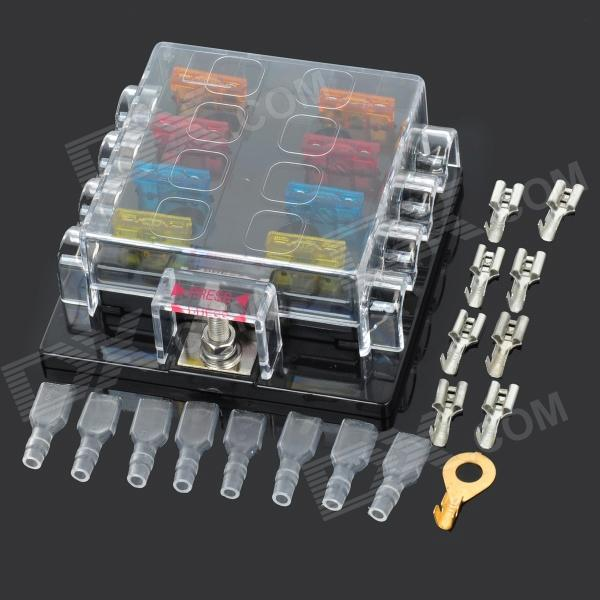 szgaoy 14072701 8 position fuse block box holder w 8 fuses safty pieces wiring terminals