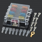 SZGAOY 14072701 8-Position Fuse Block Box Holder w/ 8 Fuses Safty Pieces + Wiring Terminals