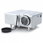 GM40 Mini Home High Definition LED Projector w/ HDMI Port - Silver
