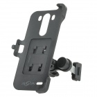 Car Universal Air-conditioning Outlet Holder Mount w/ Back Clip for LG G3 - Black