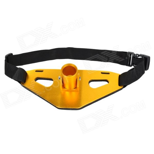 Fishing Aluminum Alloy Gimbal Waist Belt - Golden + Black