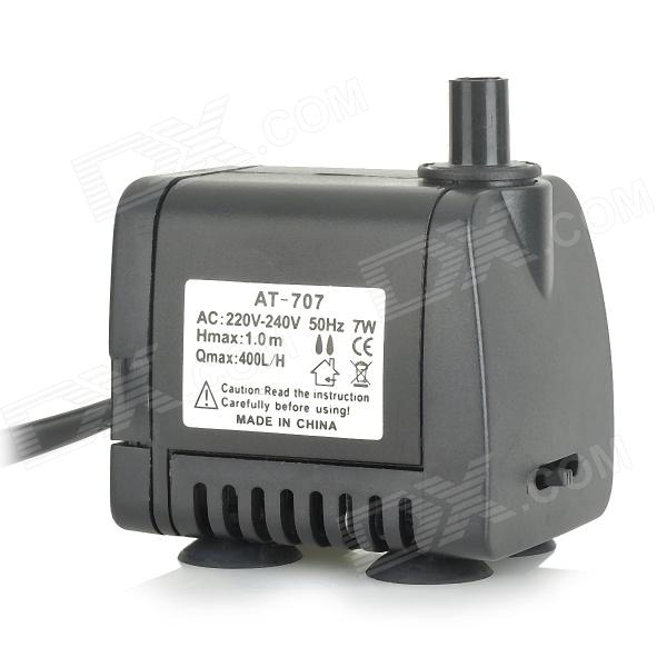 AT-707 7W Pet Fish Tank Submersible Pump - Black (EU Plug / 220~240V) at 707 7w pet fish tank submersible pump black eu plug 220 240v