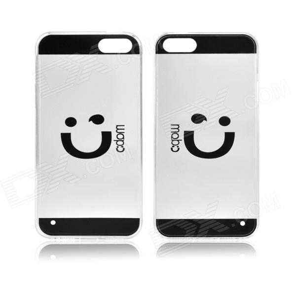 Angibabe Smile Face Acrylic TPU Case for IPHONE 4 / 4S - Black + Transparent кабели межблочные аудио wire world nano silver eclipse mini jack mini jack 2 0m nsm2 0m