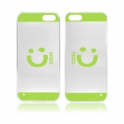 Angibabe Smile Face Acrylic TPU Case for IPHONE 5 / 5S - Green + Transparent