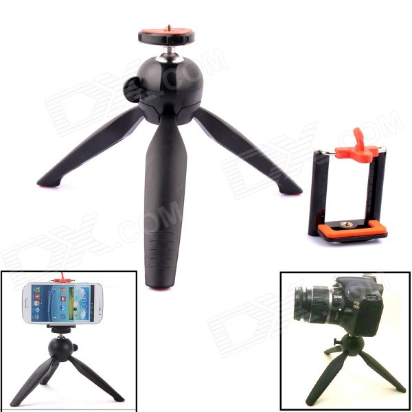 YUNTENG G-573 Mini Tripod Mount w/ Clip for Digital Camera / GoPro Camera / Cell phone universal cell phone holder mount bracket adapter clip for camera tripod telescope adapter model c