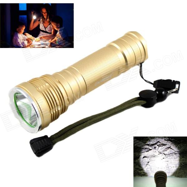 KINFIRE KF-11 LED 580lm 5-mode White Light Flashlight w/ CREE XM-L2 - Golden (1 x 18650 / 26650) new b06 800lm 5 mode white light flashlight w cree xm l2 black 1 x 18650