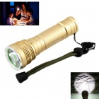 KINFIRE KF-11 LED 580lm 5-mode White Light Flashlight w/ CREE XM-L2 - Golden (1 x 18650 / 26650)