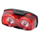 Bicycle 3-Mode Red LED Safety Warning Signal Taillight - Black + Red