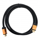 HDMI Male to Male Copper Connection Cable w/ Mesh Jacket - Golden + Black (1.8m)