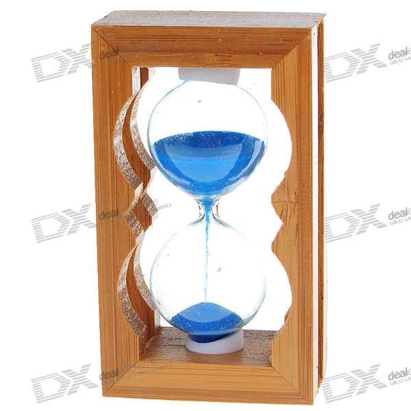 Wooden Hourglass Sand Timer (Color Assorted)