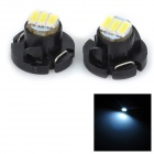 SENCART T5 / T4.2 0.6W 25LM 12000K 3014 SMD LED Cool White Light Car Lamp (2PCS / DC 12~16V)