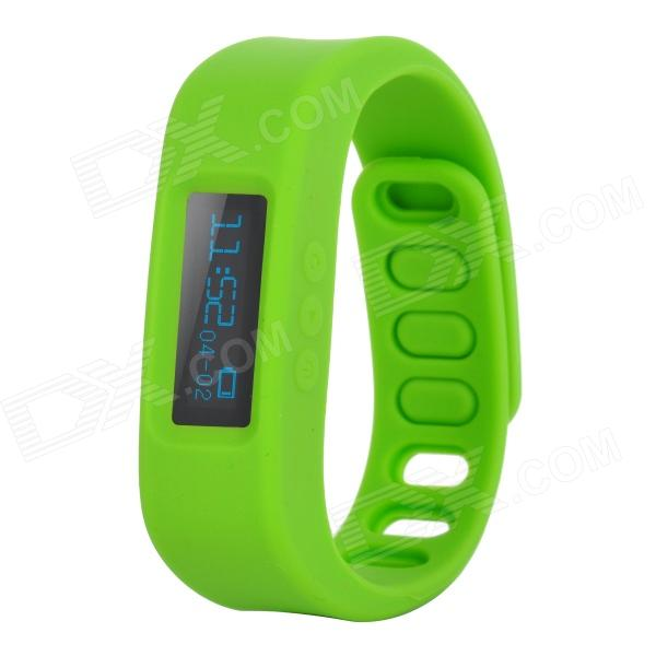 "1.0"" LCD Bluetooth V4.0 Smart Wrist Band Bracelet w/ Sleep Monitoring / Sports Recording - Green Eugene Classifieds new"
