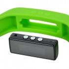 "1.0"" LCD Bluetooth V4.0 Smart Wrist Band Bracelet w/ Sleep Monitoring / Sports Recording - Green"