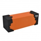Bopmen USB Powered Mini Wireless Bluetooth V3.0 Subwoofer Speaker w/ Microphone - Orange + Black