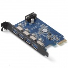 ORICO PVU3-4P 4 Ports USB 3.0 PCI-E Express Card for Desktop - Black + Blue