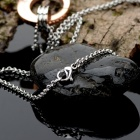 "KCCHSTAR ""Lock our love"" 316 Titanium Steel Necklaces"