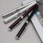 Aluminium Alloy Capacitive Stylus Pens / Ballpoint Pens - White + Silver + Black + Rose Red (4 PCS)