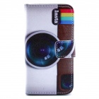 Camera Pattern PU Leather Full Body Case with Stand and Card Slot and Money Holder for IPHONE 4 / 4S