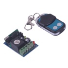 ZnDiy-BRY RF DC12V 1-CH Learning Code Remote Control Switch w/ Controller - Black