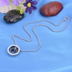 "KCCHSTAR ""LOVE"" Double-circle Style 316L Stainless Steel Pendant Necklace"
