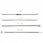 4-in-1 Stainless Steel Acne Removal Tools Kit - Silver