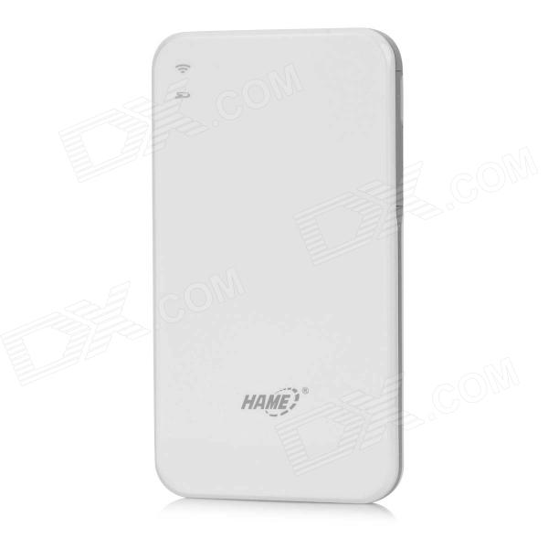 HAME S3 Cloud Storage Wi-Fi Wireless Mobile Disk w/ SD - White hame s4 usb 2 0 flash drive for cellphone mobile phone white
