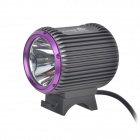 TrustFire TR-D015 Cree XM-L L2 580lm 3-Mode White Bicycle Light - Grey + Purple (2 x 18650)