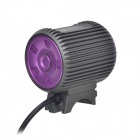 TrustFire TR-D015 LED 580lm 3-Mode White Bicycle Light - Grey + Purple (2 x 18650)