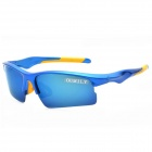 OUMILY PC Frame Resin Lens UV400 Protection Outdoor Cycling Goggles - Blue