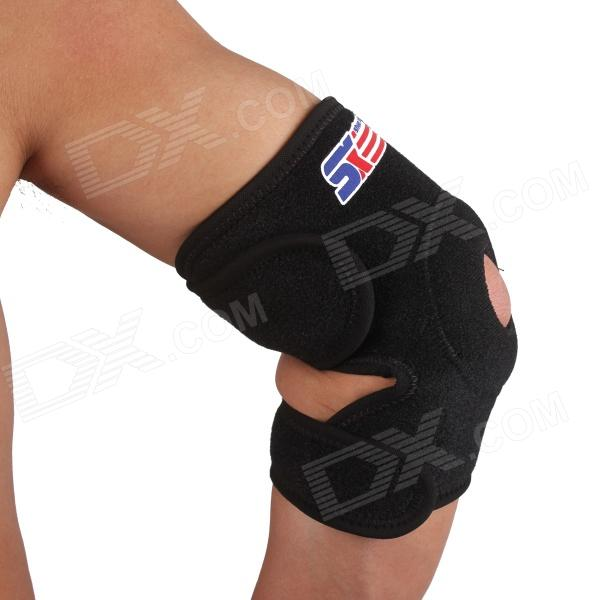 ShuoXin SX605 Adjustable Ventilate Elastic Sport Elbow Guard Protector - Black