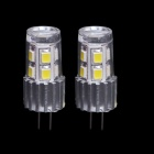 AX311 G4 2W 180lm 3000K 12-2835 SMD LED Warm White Light Lamp - Silver (12V / 2 PCS)