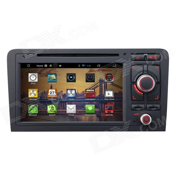 7 Android 4.2 Capacitive Screen Car DVD Player w/ IPS, GPS, RDS, WiFi, Radio, AUX, BT for AUDI A3 joyous 1 6g dual core android 4 2 capacitive screen car dvd w radio gps rds bt wifi 3g