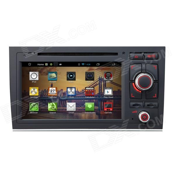 7 Android 4.2 Capacitive Screen Car DVD Player w/ IPS, GPS, RDS, WiFi, Radio, AUX, BT for AUDI A4 joyous 1 6g dual core android 4 2 capacitive screen car dvd w radio gps rds bt wifi 3g