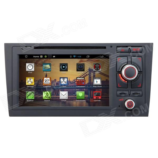 7 Android 4.2 Capacitive Screen Car DVD Player w/ IPS, GPS, RDS, WiFi, Radio, AUX, BT for AUDI A6 joyous 1 6g dual core android 4 2 capacitive screen car dvd w radio gps rds bt wifi 3g