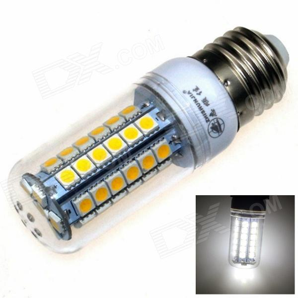 ZHISHUNJIA E27 9W 630lm 6000K 48-5050 SMD LED White Light Maize Lamp - White (AC 85~265V) r7s 15w 5050 smd led white light spotlight project lamp ac 85 265v