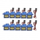 SG90 9g Servo Motors w/ Accessories for R/C Robot - Blue (10PCS)