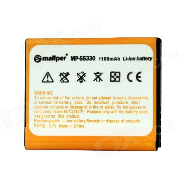 Mallper Replacement 3.7V 1100mAh Li-ion Battery for Samsung S5570 / S5330/ S5570 / I559 / i5510 mallper mp i8160 3 7v 1275mah replacement li ion battery for samsung i8160 i8190 s3 mini