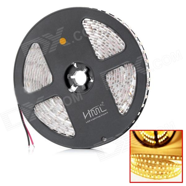 HML 3528 48W 2300lm 3300K 600-SMD 3528 LED Warm White Light Strip - White + Light Yellow (12V / 5M)
