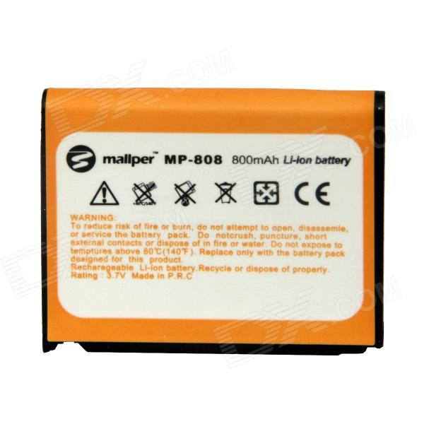 Mallper Replacement 3.7V 800mAh Li-ion Battery for Samsung G800 / F488E / G808 / G808E / L870 electric bicycle case 36v lithium ion battery box 36v e bike battery case used for 36v 8a 10a 12a li ion battery pack
