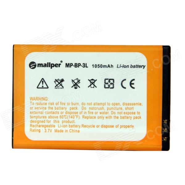 Mallper BP-3L 3.7V 1050mAh Li-ion Battery for Nokia 303 / 610 / 603 / Lumia 710 + More - Orange ipega i5056 waterproof protective case for iphone 5 5s 5c pink