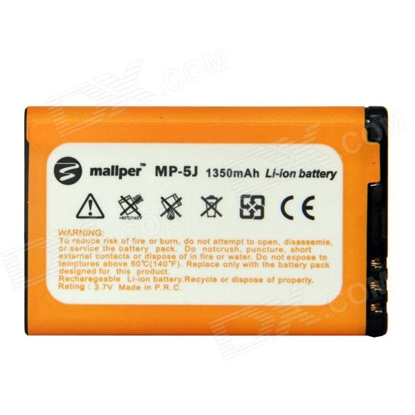 Mallper BL-5J 3.7V 1350mAh Li-ion Battery for Nokia 5800XM / 5802XM / 5900XM / 5230 / X6+ More free shipping projector lamp compatible with for 5j j8f05 001 5j j7k05 001 5j j2v05 001