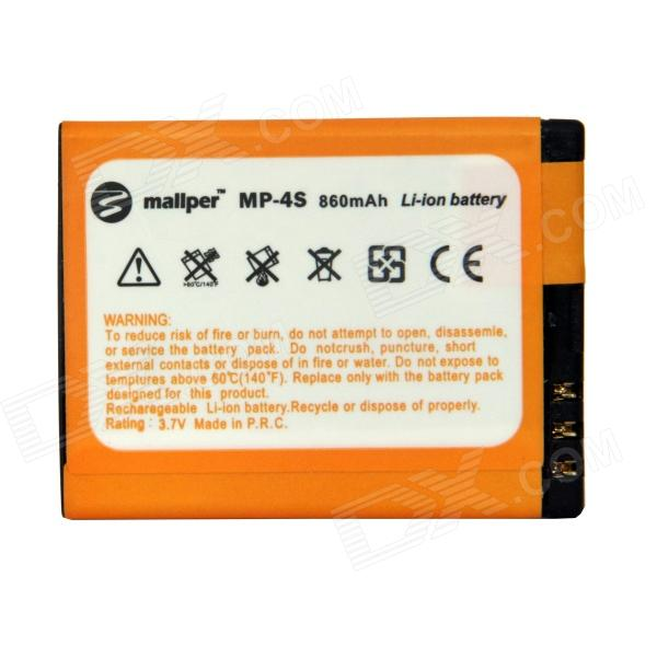 Mallper BL-4S Replacement 3.7V 860mAh Li-ion Battery for Nokia 2680S / 3600S / 7610S  + More bl 5j gd replacement 2450mah battery for nokia 5800xm 5802xm 5900xm 5228 5230 golden