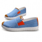 SNJ Breathable Men's Canvas Shoes Sneakers - Light Blue + Orange + White (EU Size 42)