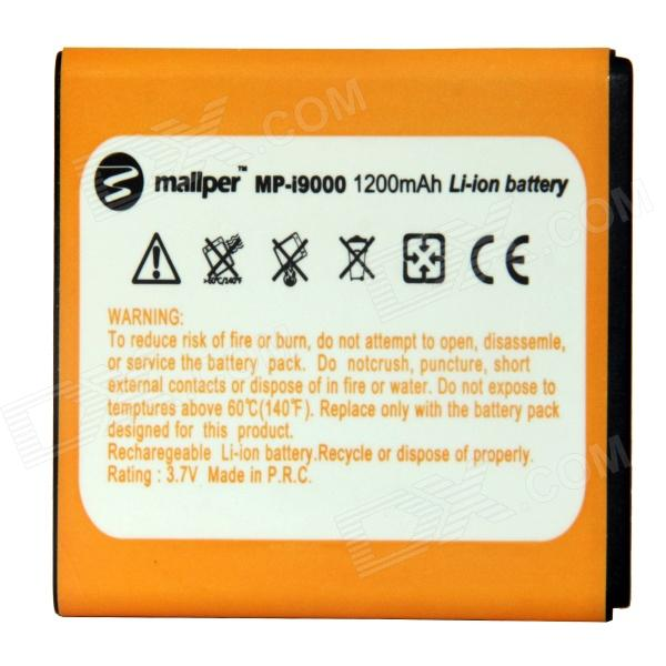Mallper Replacement 3.7V 1200mAh Li-ion Battery for Samsung Galaxy S i9000 - Orange replacement dual core 1600mah li ion battery for samsung galaxy ace s5830 2 pcs