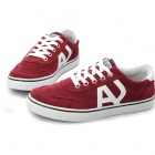 SNJ Breathable Men's Canvas Shoes Sneakers - Red White (EU Size 43)