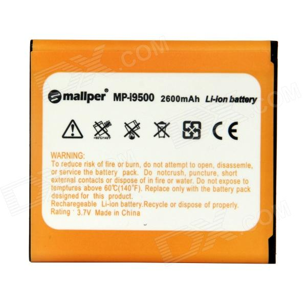 Mallper Replacement 3.7V 2600mAh Li-ion Battery for Samsung Galaxy S4 i9500 - Orange bt l1 li ion battery for gowin total stations 7 2v li ion 3000mah brand ne w