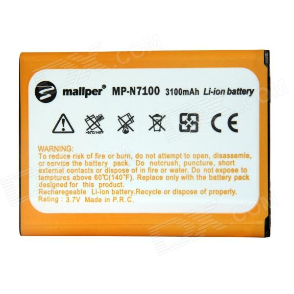 Mallper Replacement 3.7V 3100mAh Li-ion Battery for Samsung Galaxy Note 2 N7100 - Orange ismartdigi rechargeable 3100mah li ion battery for samsung n7100 galaxy note 2 n7102 white