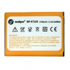 "Mallper Replacement 3.7V ""3100mAh"" Li-ion Battery for Samsung Galaxy Note 2 N7100 - Orange"
