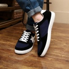 SNJ Breathable Men's Canvas Shoes Sneakers - Blue + Black + White (EU Size 42)